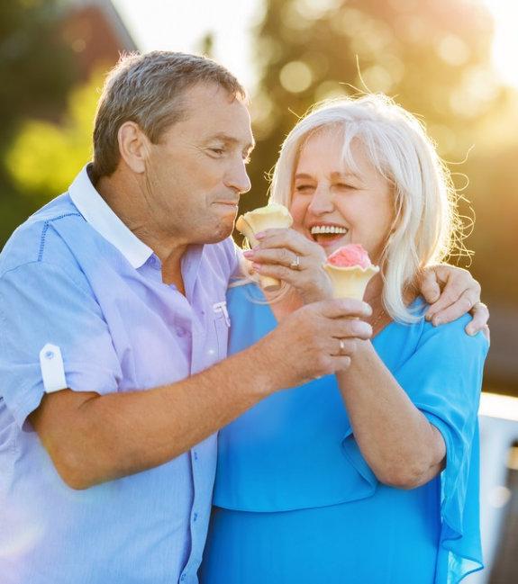 caregiver accompanying senior man